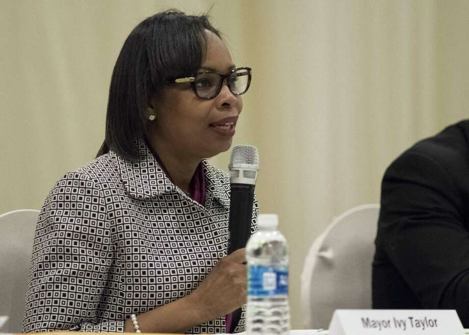 Mayor Ivy Taylor speaks during a mayoral candidate forum hosted by the Asian American Alliance of San Antonio, Saturday, Feb. 25, 2017, in San Antonio. (Darren Abate/For the San Antonio Express-News) Photo: Darren Abate, FRE / San Antonio Express-News / San Antonio Express-News