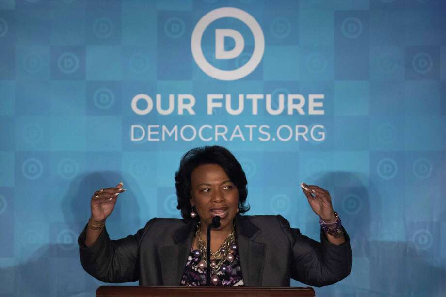 Bernice King, daughter of the late Rev. Martin Luther King Jr., speaks during the general session of the Democratic National Committee winter meeting in Atlanta, Saturday, Feb. 25, 2017. (AP Photo/Branden Camp) ORG XMIT: GABC104 Photo: Branden Camp / FR171034 AP