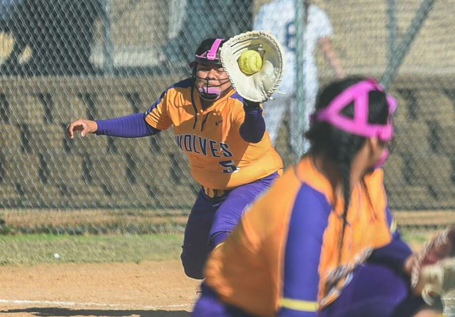 LBJ's Crystal Hernandez and the Lady Wolves took home second place at the Border Olympics after falling to Santa Gertrudis Academy 16-1 in the championship game on Saturday. Photo: Danny Zaragoza /Laredo Morning Times / Laredo Morning Times
