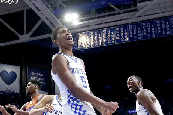 Kentucky's Malik Monk has lots to celebrate after scoring 30 of his 33 points in the second half against Florida.