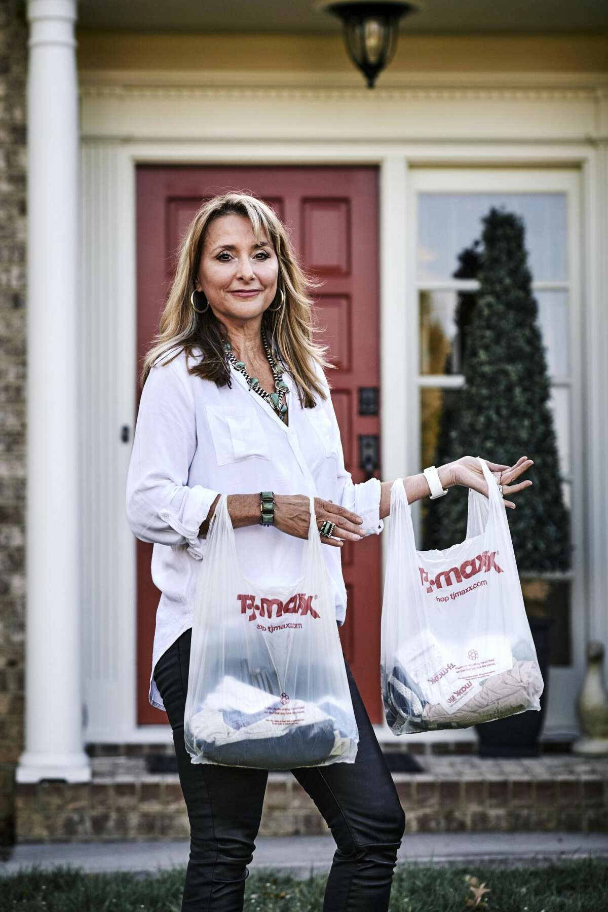 """Rachel Veazey of Cleveland, Tennessee, swore off TJ Maxx, a favorite store, over reports it had removed promotional signs for Ivanka Trump's line of clothes. But she later went back, confessing, """"Gosh, I'm not a very good boycotter."""" MUST CREDIT: Photo for The Washington Post by Shawn Poynter"""
