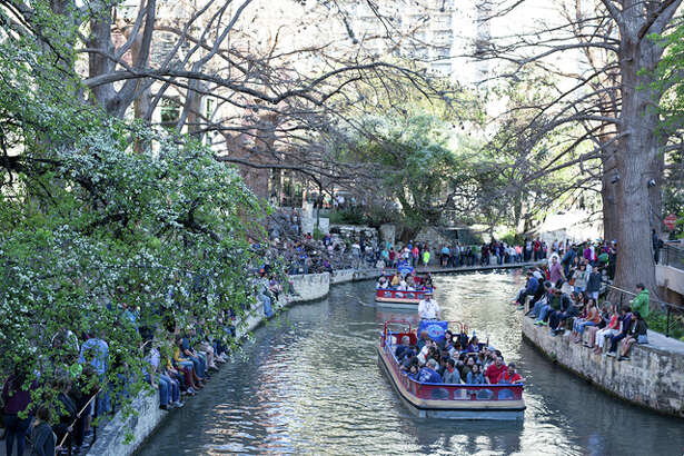 The Arneson River Theatre was flooded with festive partiers Saturday, Feb. 26, for the Mardi Gras River Parade & Festival. The annual event presented by Bud Light was full of music, dancing and Cajun style eats. There was also a mystical side to the afternoon as parade goers were also treated to palm and tarot card readings.