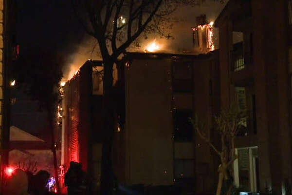 Crews responded to the blaze around 3 a.m.