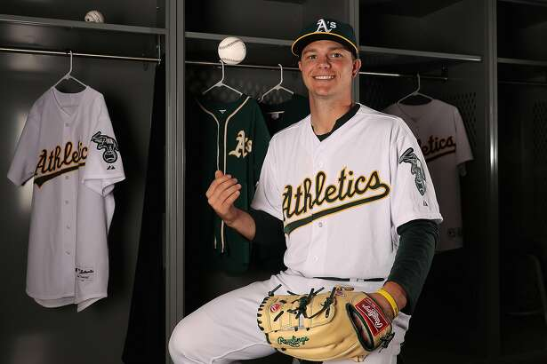 MESA, AZ - FEBRUARY 22:  Pitcher Sonny Gray #54 of the Oakland Athletics poses for a portrait during photo day at HoHoKam Stadium on February 22, 2017 in Mesa, Arizona.  (Photo by Christian Petersen/Getty Images)