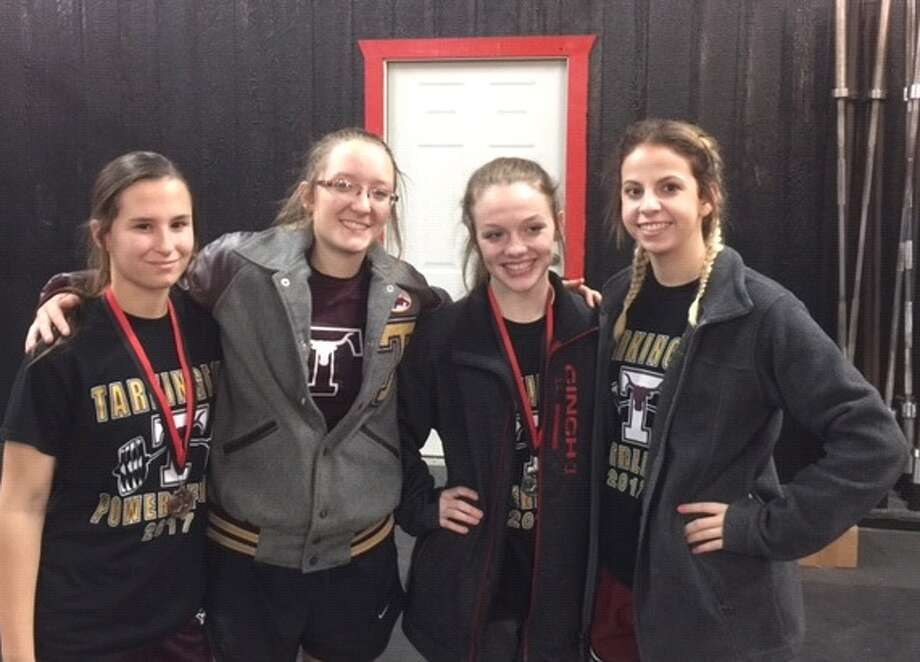 The Tarkington girls powerlifting team competed in the Feb. 15 meet at Hull-Daisetta High School. Photo: Submitted