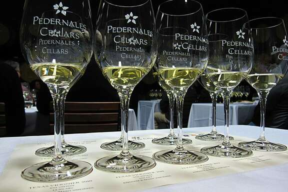 A tasting of viognier wine vintages at Pedernales Cellars in Stonewall.