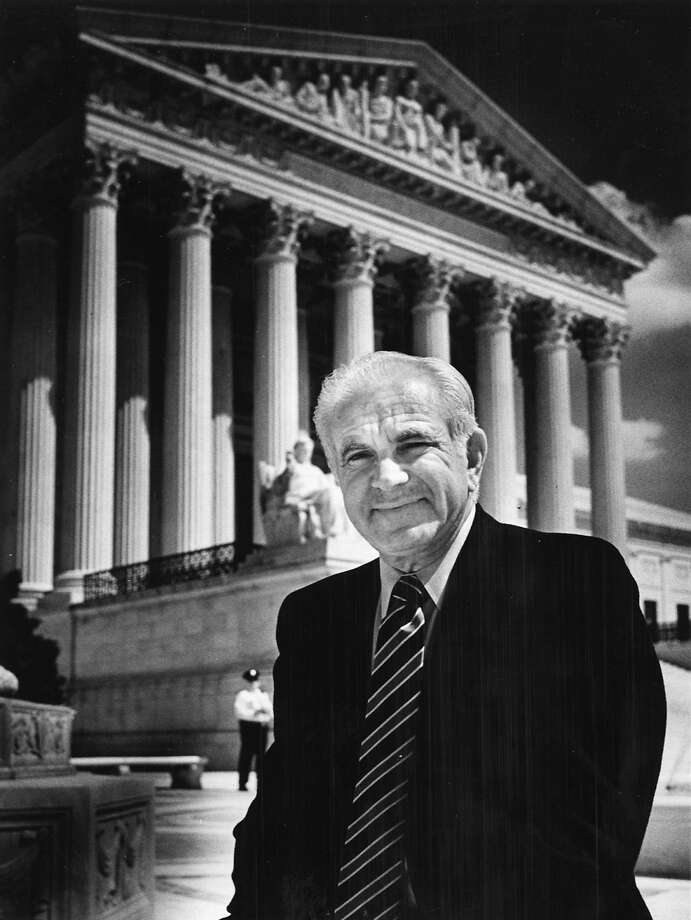 """Judge Joseph Wapner of the """"The People's Court"""" visited the Supreme Court in 1984. Photo: Gerald Martineau, The Washington Post"""