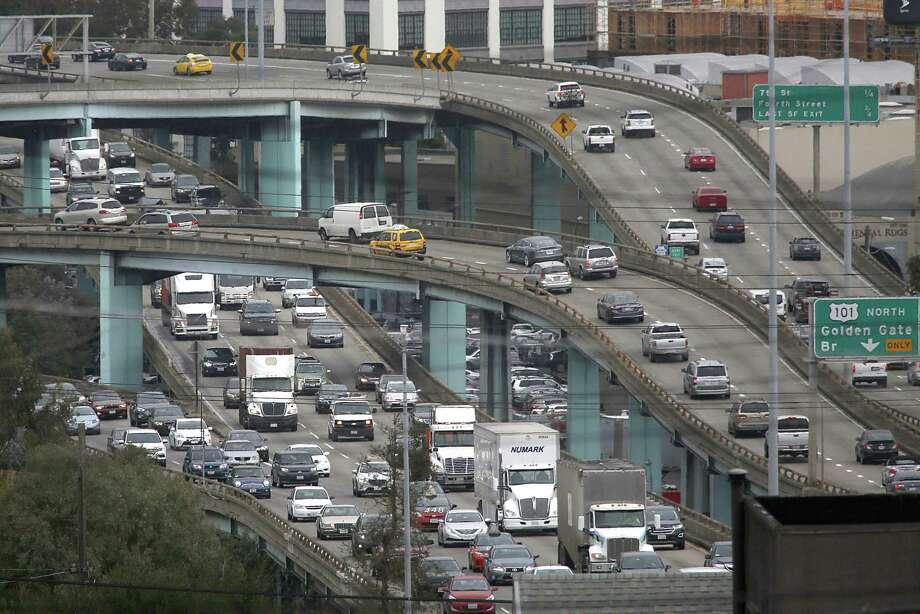 S.F. traffic ranks as third worst in the U.S. and fourth worst in the world in a survey of metropolitan areas. Photo: Liz Hafalia / Liz Hafalia / The Chronicle 2016 / online_yes