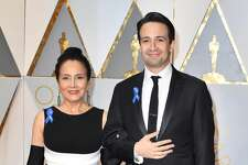 HOLLYWOOD, CA - FEBRUARY 26:  Lin-Manuel Miranda and Luz Towns-Miranda attend the 89th Annual Academy Awards at Hollywood & Highland Center on February 26, 2017 in Hollywood, California.  (Photo by Jeff Kravitz/FilmMagic)