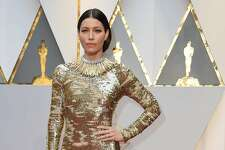 US actress Jessica Biel arrive on the red carpet for the 89th Oscars on February 26, 2017 in Hollywood, California.  / AFP PHOTO / VALERIE MACONVALERIE MACON/AFP/Getty Images