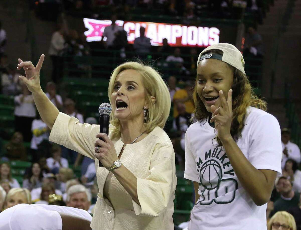 Women's basketball coach Kim Mulkey celebrates her 500th career win at Baylor on Saturday with a few choice words about the scandal.