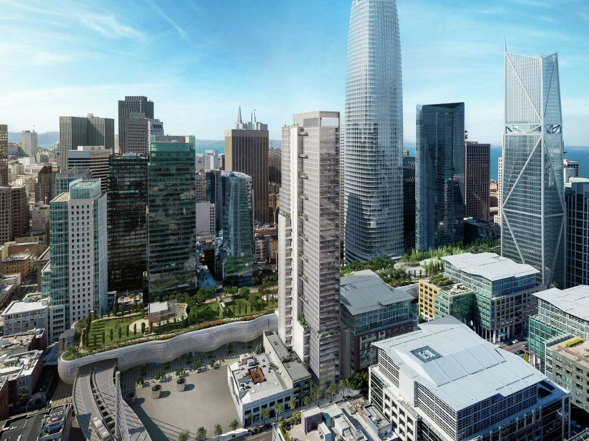 The 48-story residential tower at 524 Howard St., designed by Handel Architects for developer Crescent Heights, is among a trio of high-rises coming to the long-quiet 500 block of Howard Street.
