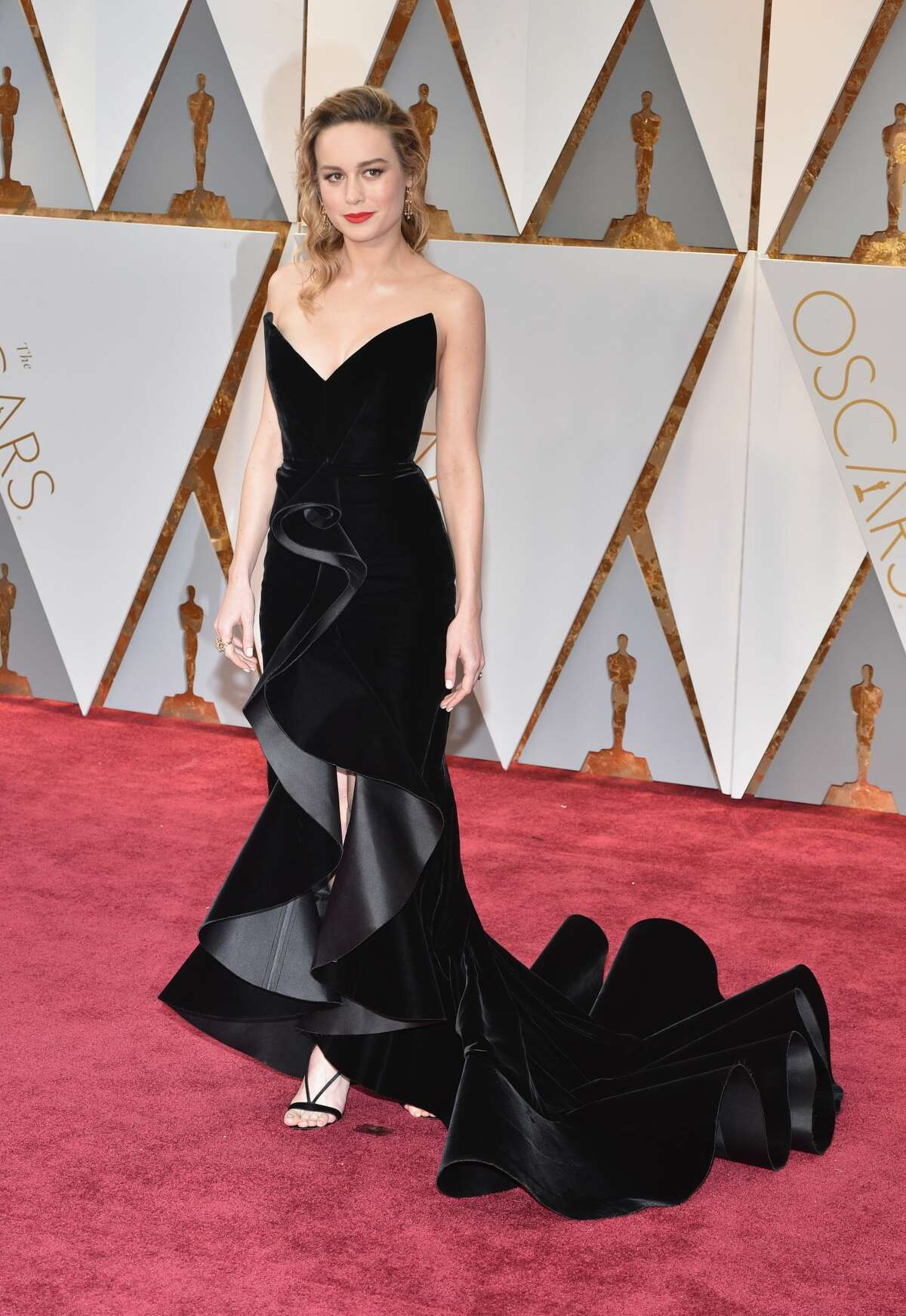 Best:Can not get over Brie Larson's vampy look and the structure of this dress is seriously... goals.