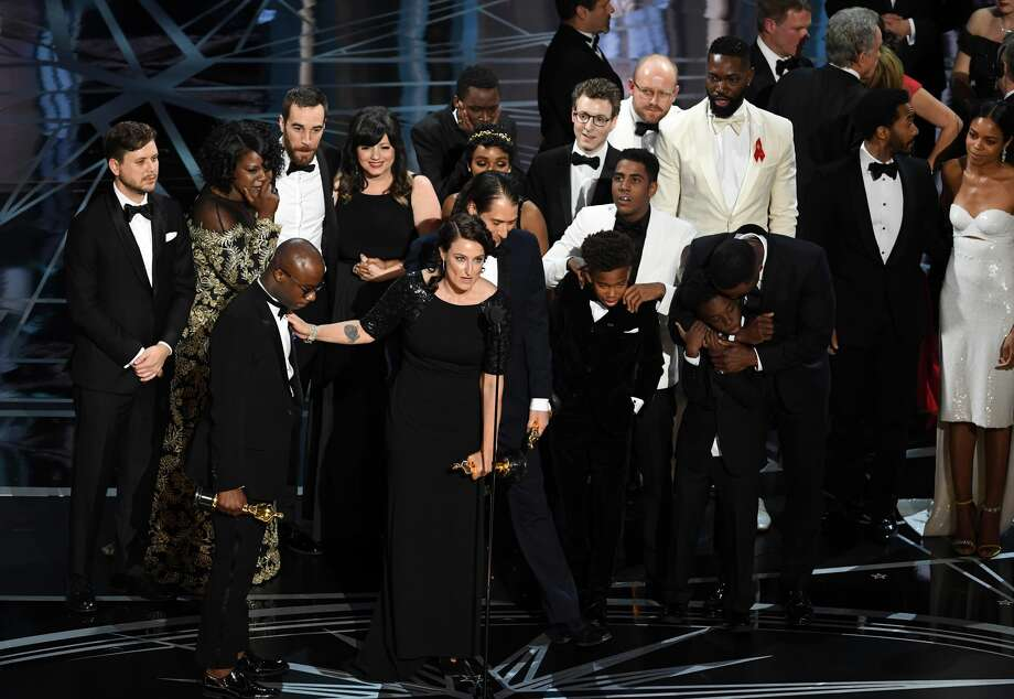 Cast and crew of 'Moonlight' accept the Best Picture award onstage during the 89th Annual Academy Awards at Hollywood & Highland Center on February 26, 2017 in Hollywood, California. Photo: Kevin Winter/Getty Images