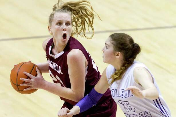 Magnolia forward Alexus Wykoff (23) earned the Co-Most Valuable Player award along with Tomball senior Kameron Daily. Magnolia was the last Montgomery County team standing in the UIL state playoffs this season.