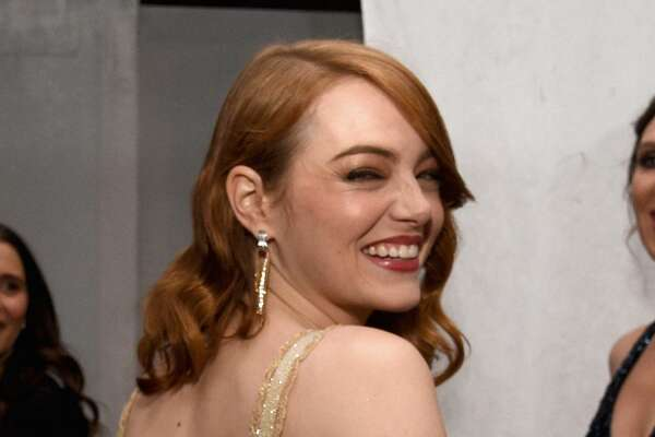 Actor Emma Stone, winner of the award for Actress in a Leading Role for 'La La Land,' attends the 89th Annual Academy Awards Governors Ball at Hollywood & Highland Center on February 26, 2017 in Hollywood, California.