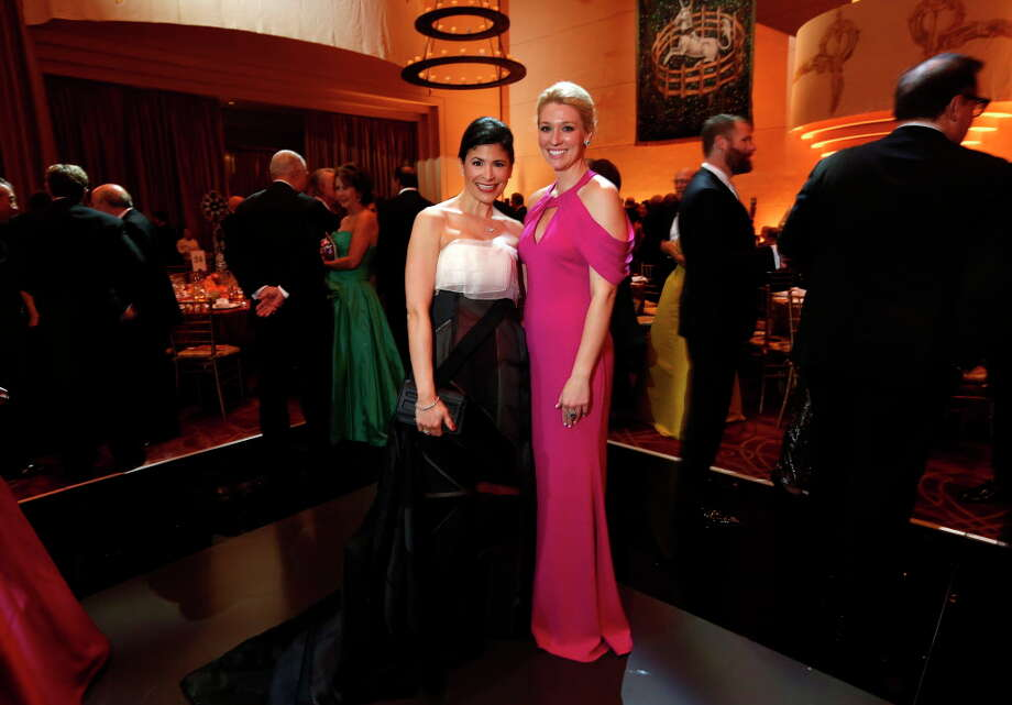 Kristy Bradshaw and Christina Stith at the Cinderella-themed Ballet Ball on Saturday, Feb. 25, 2017, in Houston. (Annie Mulligan / Freelance) Photo: Annie Mulligan, Annie Mulligan / For The Houston Chronicle / @ 2017 Annie Mulligan & the Houston Chronicle