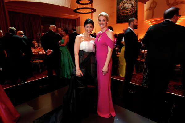 Kirsty Bradshaw and Christina Stith at the Cinderella-themed Ballet Ball on Saturday, Feb. 25, 2017, in Houston. (Annie Mulligan / Freelance)