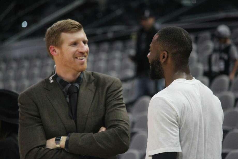 Matt Bonner has been part of the Spurs' broadcast team since retiring in 2016. Photo: Spurs.com