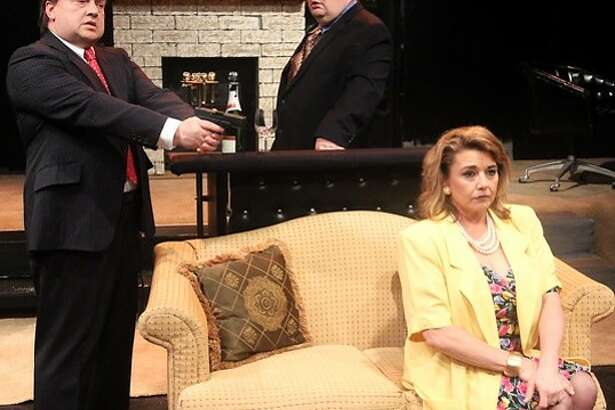 "Lanier Young, Fulton Fry and Rebecca Thompson are caught up in crimial intent in Pasadena  Little Theatre's production of ""A Guilty Conscience."""