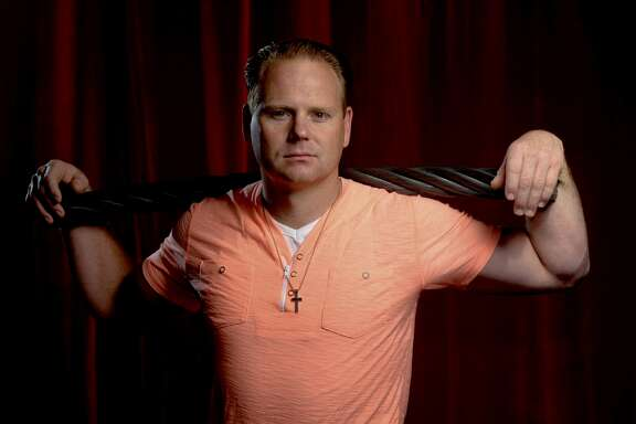 Famed aerialist Nik Wallenda shows the 2-inch cable he uses in his death-defying tightrope walks.