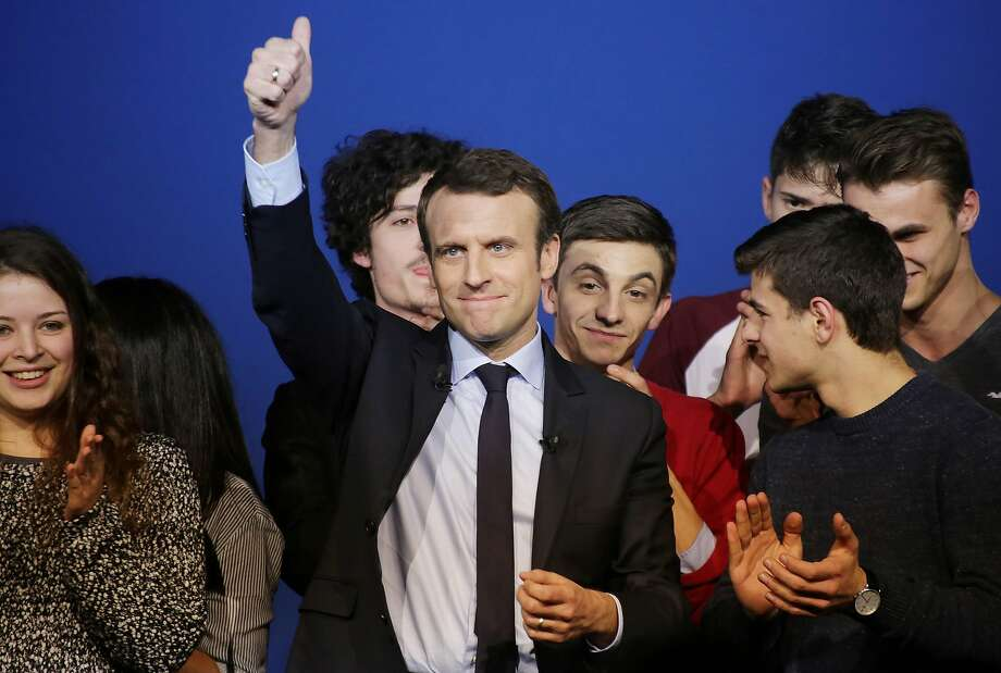 Recent endorsements appear to have given Emmanuel Macron a boost in the presidential race. Photo: PASCAL LACHENAUD, AFP/Getty Images