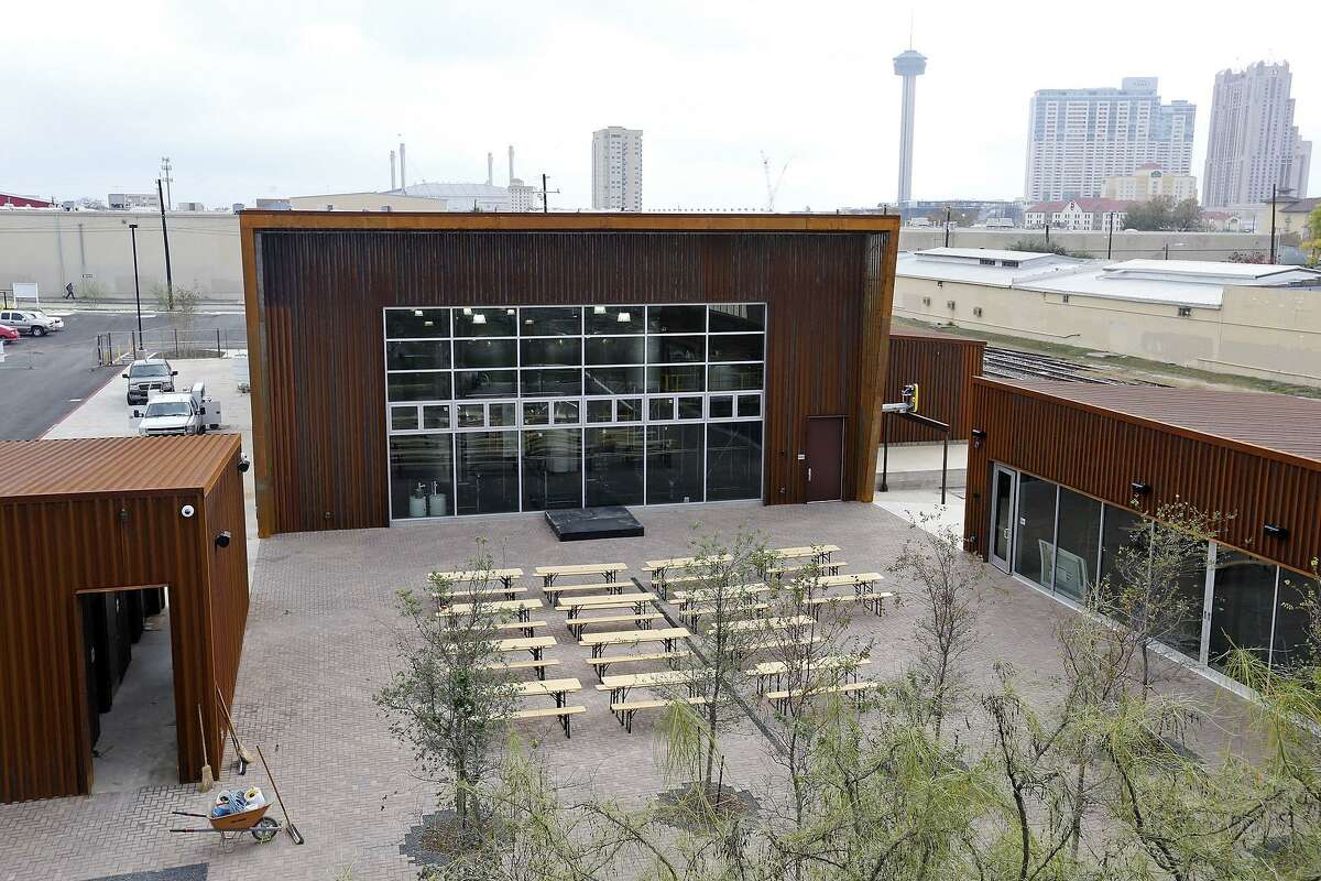 A view of the Alamo Brewery's headquarters east of downtown.