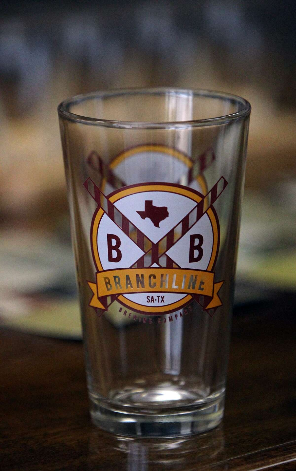 A souvenier glass from The Branchline Brewing Company