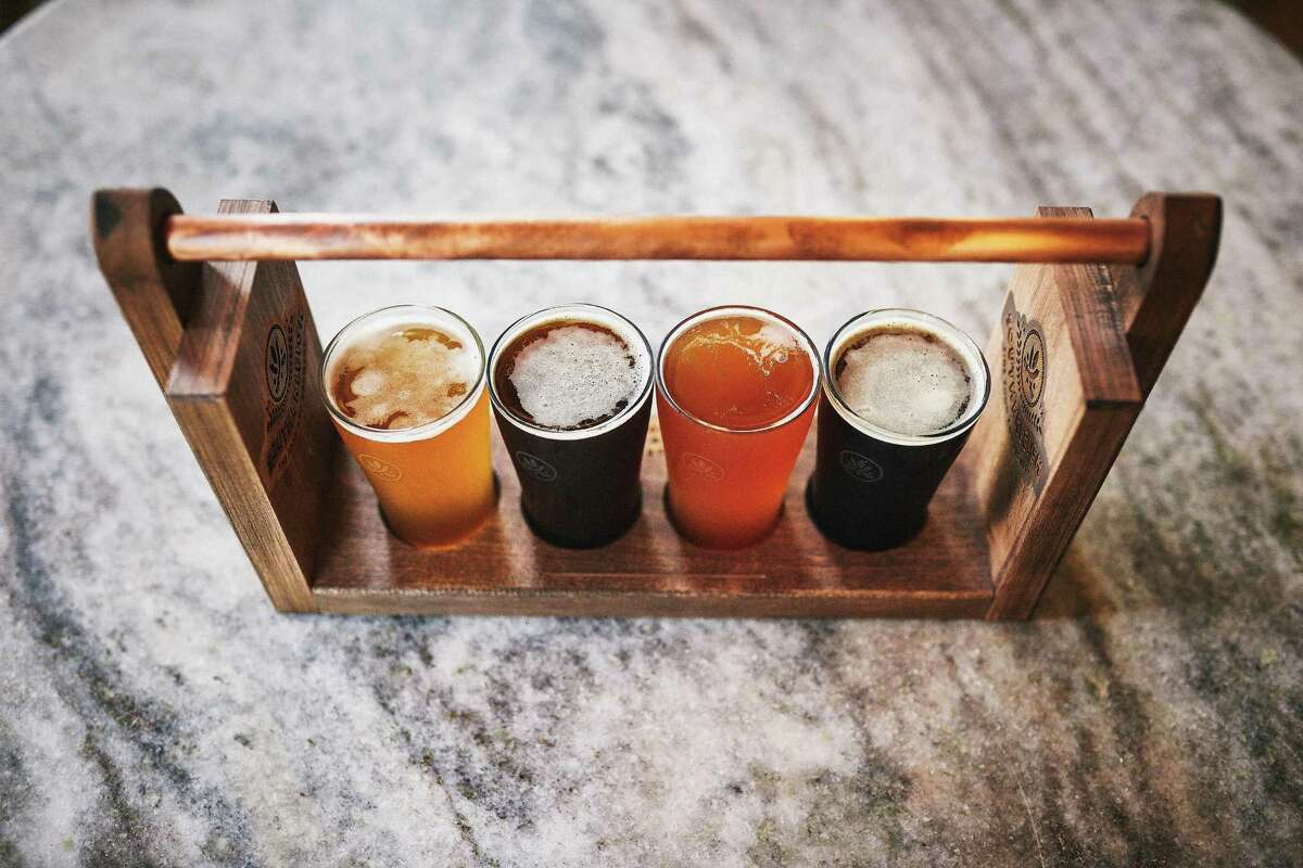 A beer flight at Southerleigh