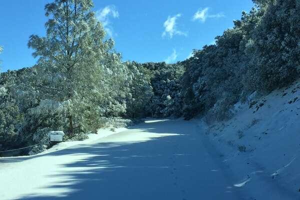 Snow on Mount Diablo on Feb. 27, 2017.