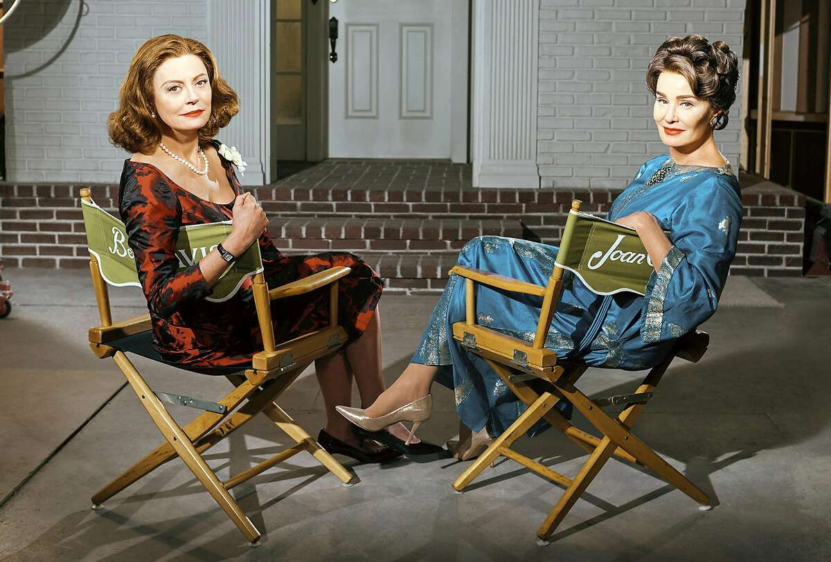 "Susan Sarandon, left, plays Bette Davis and Jessica Lange portrays Joan Crawford in FX's limited series, ""Feud: Bette and Joan,"" premiering Sunday. (Kurt Iswarienko/FX)"