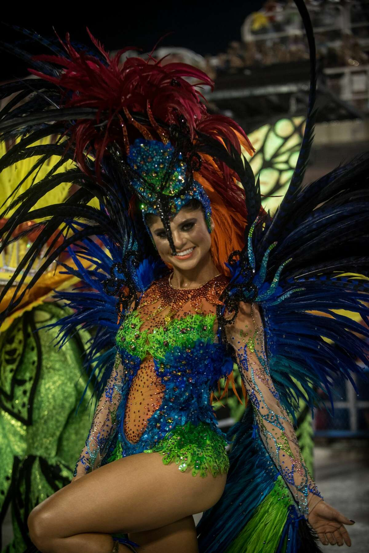 Actress Julianne Trevisol dances during Grande Rio performance at the Rio de Janeiro Carnival at Sambodromo on February 26, 2017 in Rio de Janeiro, Brazil. Keep clicking for more amazing photos taken at Carnival Rio.
