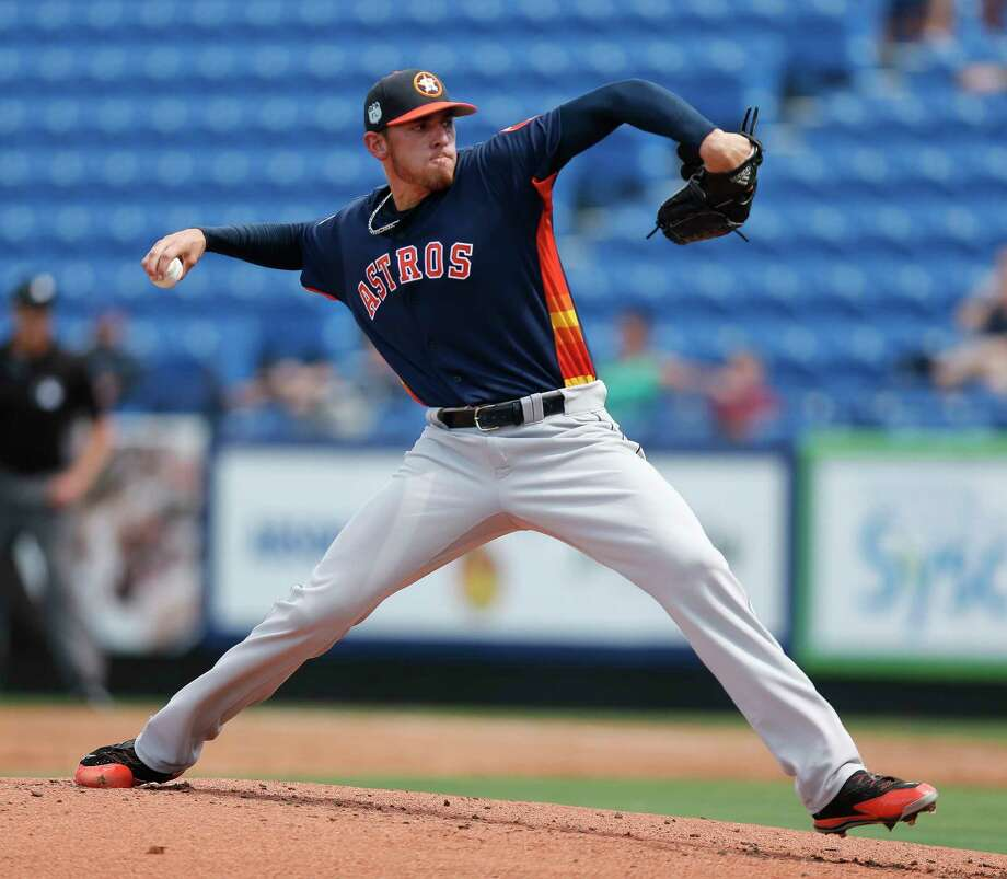 Houston Astros starting pitcher Joe Musgrove (59) works in the first inning of a spring training baseball game against the New York Mets Monday, Feb. 27, 2017 in Port St. Lucie, Fla. (AP Photo/John Bazemore) Photo: John Bazemore, Associated Press / Copyright 2017 The Associated Press. All rights reserved.