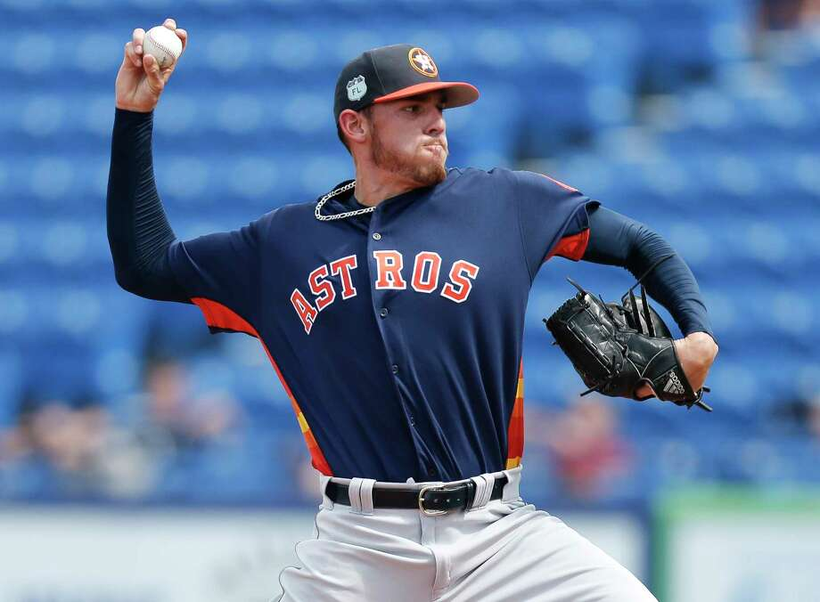 Houston Astros starting pitcher Joe Musgrove works in the first inning of a spring training baseball game against the New York Mets Monday, Feb. 27, 2017, in Port St. Lucie, Fla. (AP Photo/John Bazemore) Photo: John Bazemore, Associated Press / Copyright 2017 The Associated Press. All rights reserved.