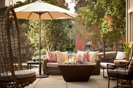 Villa suites at Bernardus Lodge & Spa in Carmel Valley include private balconies or patios with firepits.
