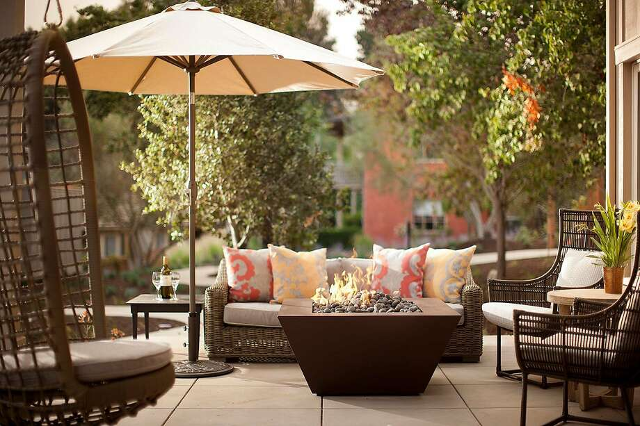 Villa suites at Bernardus Lodge & Spa in Carmel Valley include private balconies or patios with fire pits. Photo: Courtesy Bernardus Lodge & Spa, .