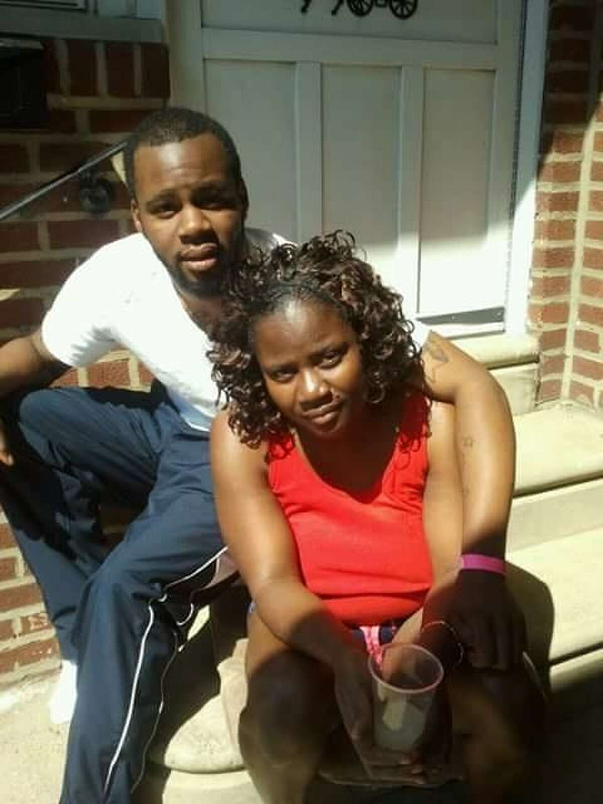 A picture of Maxine Gooden, 43, of Myano Lane in Stamford, taken with her oldest son Jordan Gooden, this year. Gooden was shot and killed in Lione Park Monday night.
