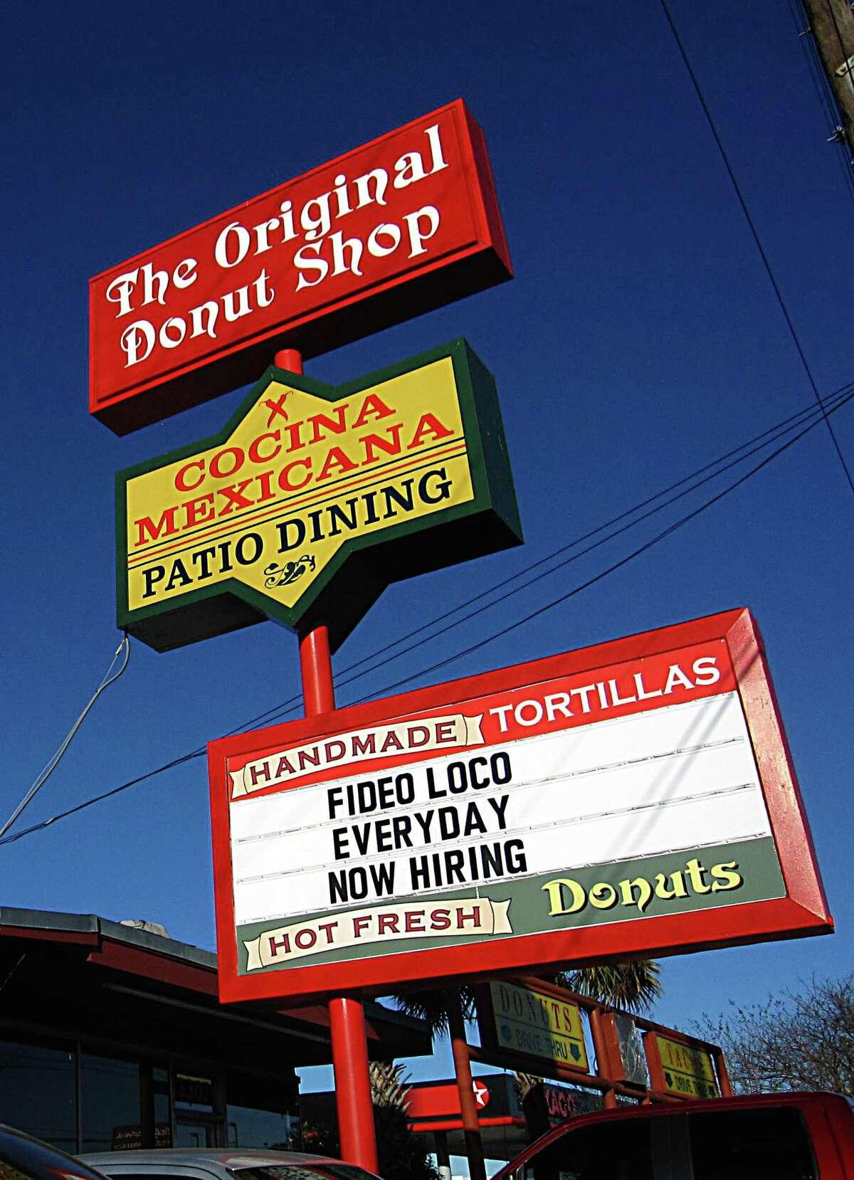 The Original Donut Shop on Fredericksburg Road.