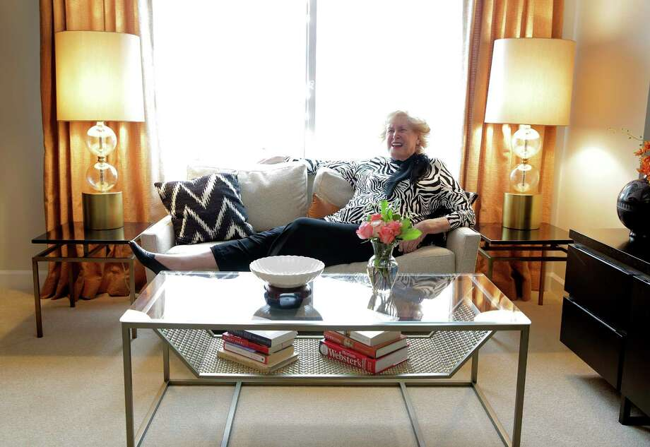 Margaret Poff bought nearly all new furniture for her new space, saying that this is not her last chapter, it is merely the next chapter in her life. Photo: Elizabeth Conley, Staff / © 2017 Houston Chronicle