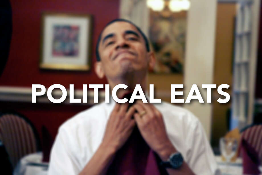 The campaign trail can be tough — insane travel itineraries, little sleep, all that hand-shaking — so keeping that calorie count up is important.Some candidates take to it better than others, check out this slideshow to see politicians stuffing their faces while stuffing their campaign coffers. Photo: Rick Bowmer, AP / 2008 AP