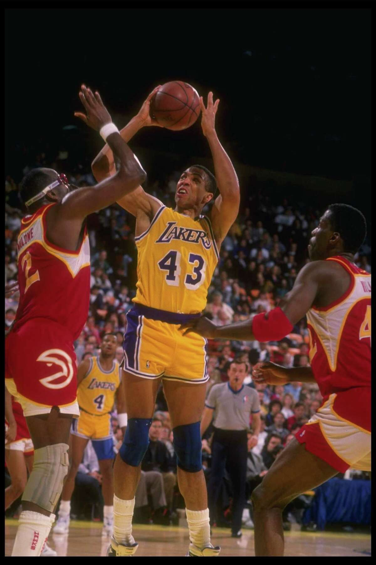 Mychal Thompson, 1987 The Lakers got Thompson - better known now as the father of Warriors star Klay Thompson - from the Spurs for a pittance: Frank Brickowski, Peter Gudmundsson, a 1987 first-round pick and a 1990 second-round pick. Thompson, a former first overall pick, gave Los Angeles more frontcourt depth and a foil for Boston's Kevin McHale, a former college teammate at Minnesota. Thompson helped the Lakers win two championships - including against the Celtics in 1987 - and make two more Finals appearances during his five Lakers seasons. The guys the Spurs got amounted to nothing.