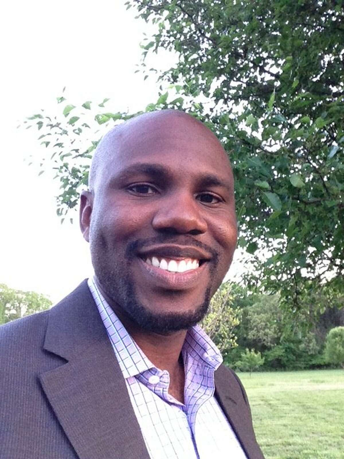 Jimi Amos, 33, is running for mayor of Pearland.