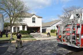 San Antonio firefighters battled a house fire on the far West Side Monday afternoon, Feb. 27, 2017. There were no injuries.