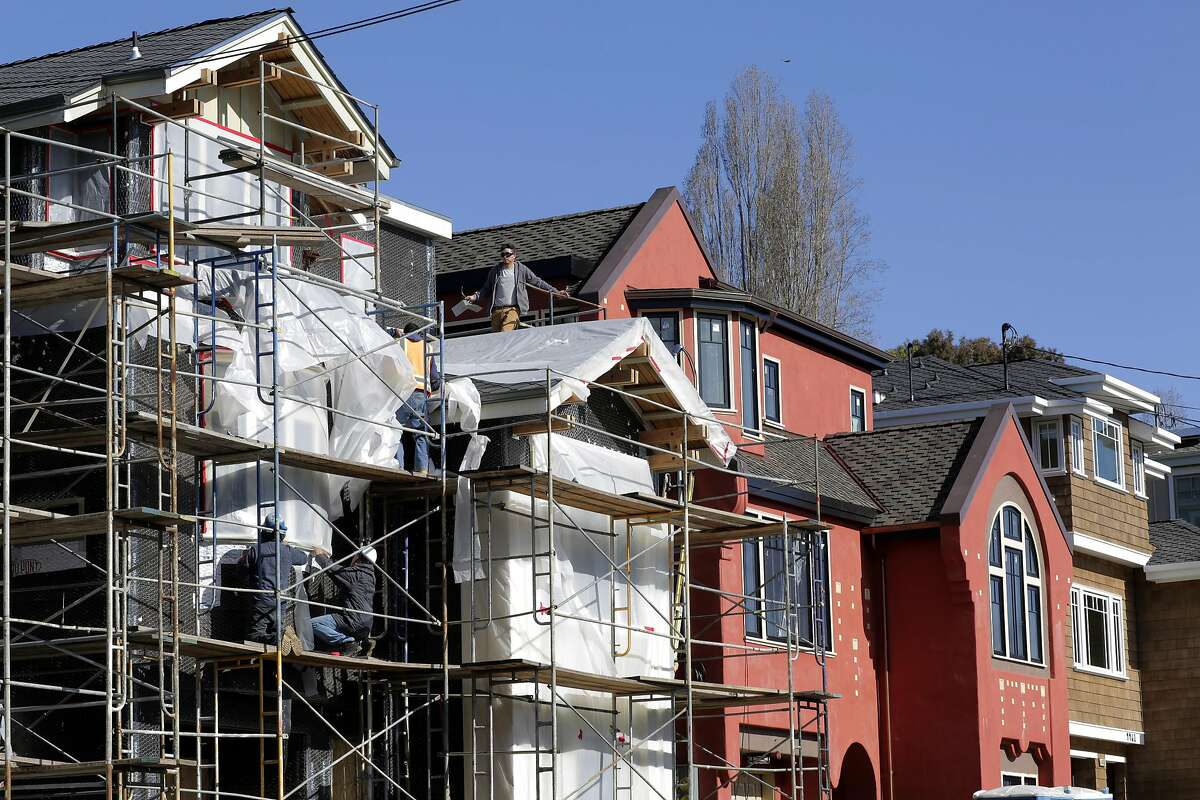 New construction of mock-historic homes along the 4400 block of Howe St. in Oakland, Ca. on Monday February 27, 2017.