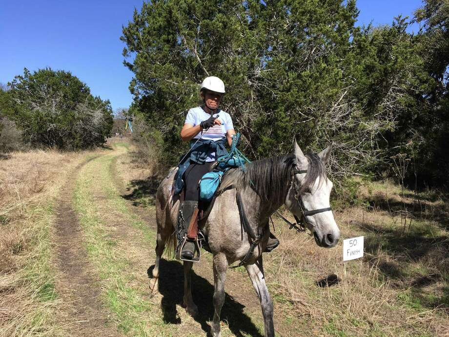 A competitor on the trail at the endurance horse race in Bandera. Photo: Submitted Photo /