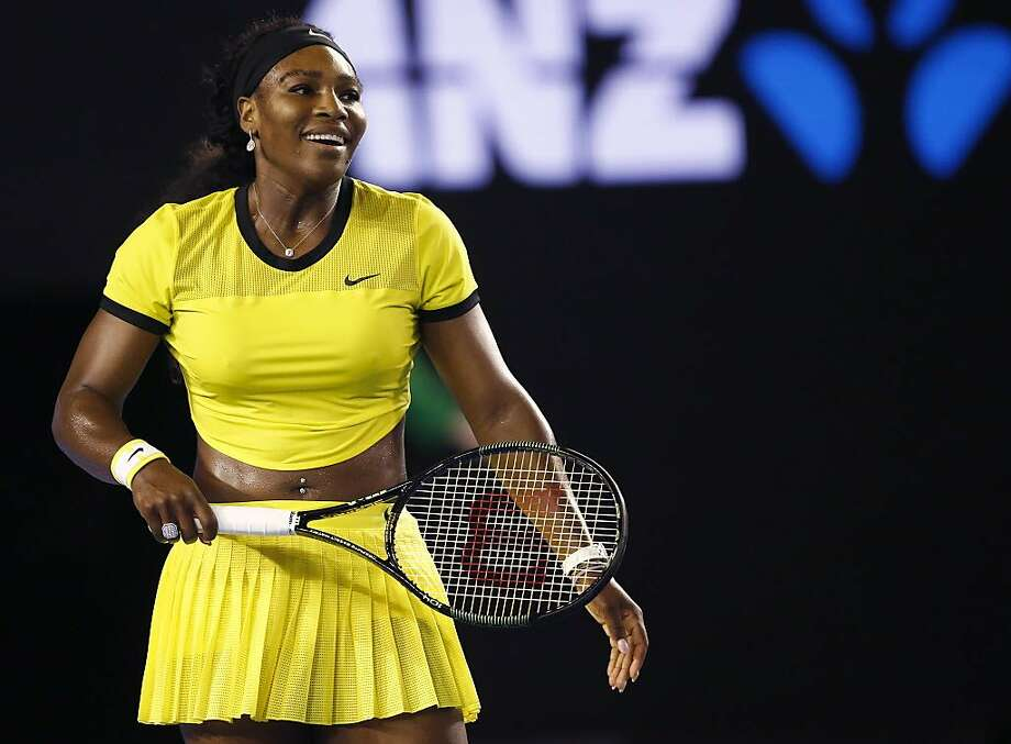 "FILE - In this Jan. 28, 2016, file photo, Serena Williams smiles during her semifinal match against Agnieszka Radwanska of Poland at the Australian Open tennis championships in Melbourne, Australia. Top-ranked Williams recounted Sunday, May 8, how she came to have a part in the Beyonce's video, ""Lemonade."" (AP Photo/Rafiq Maqbool, File) Photo: Rafiq Maqbool, Associated Press"