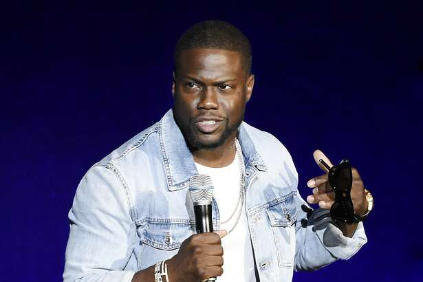 """Kevin Hart, star of the upcoming film """"What Now?,"""" addresses the audience during the Universal Pictures presentation at CinemaCon 2016, the official convention of the National Association of Theatre Owners (NATO), at Caesars Palace on Wednesday, April 13, 2016, in Las Vegas. (Photo by Chris Pizzello/Invision/AP)"""