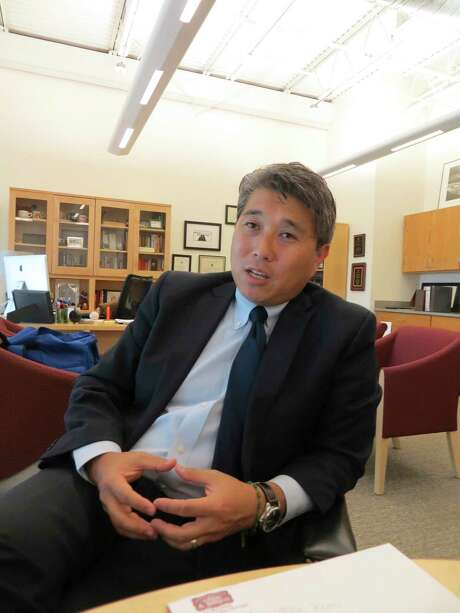 Comal County ISD Superintendent Andrew Kim said no other school district's board has formally endorsed the state's new A-F accountability system for public schools — but more than 550 districts have expressed opposition to it. Photo: Zeke MacCormack /San Antonio Express-News / San Antonio Express-News