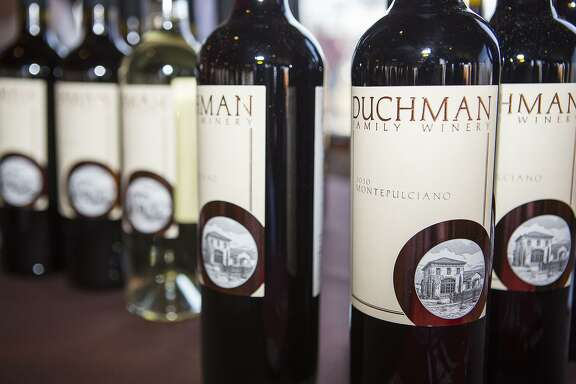 An assortment of Duchman Family Winery wines