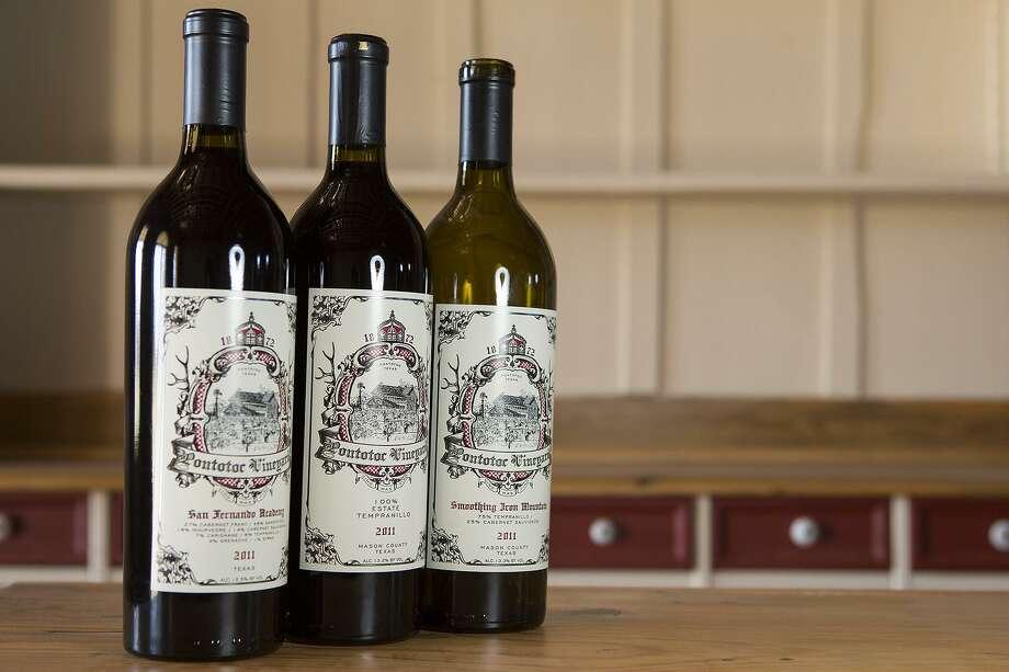 The wines of Pontotoc Vineyard Photo: Express-News File Photo / San Antonio Express-News